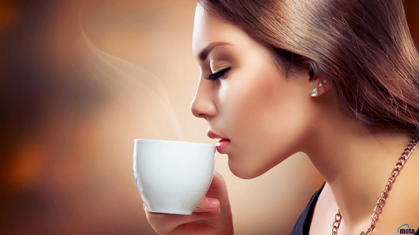 Drinking-coffee-woman